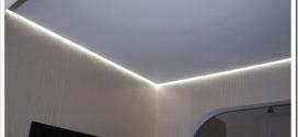 Как делают парящий потолок натяжной с подсветкой